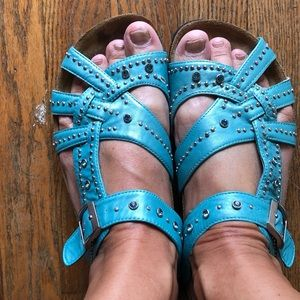 Birkenstock's Betula Teal Sandals sz 39/9